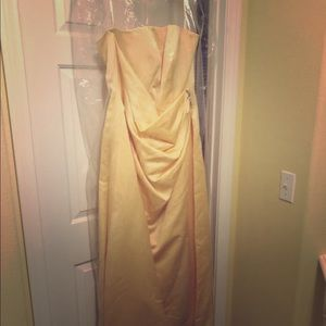 Bridesmaid Canary Yellow Dress-Plus Size